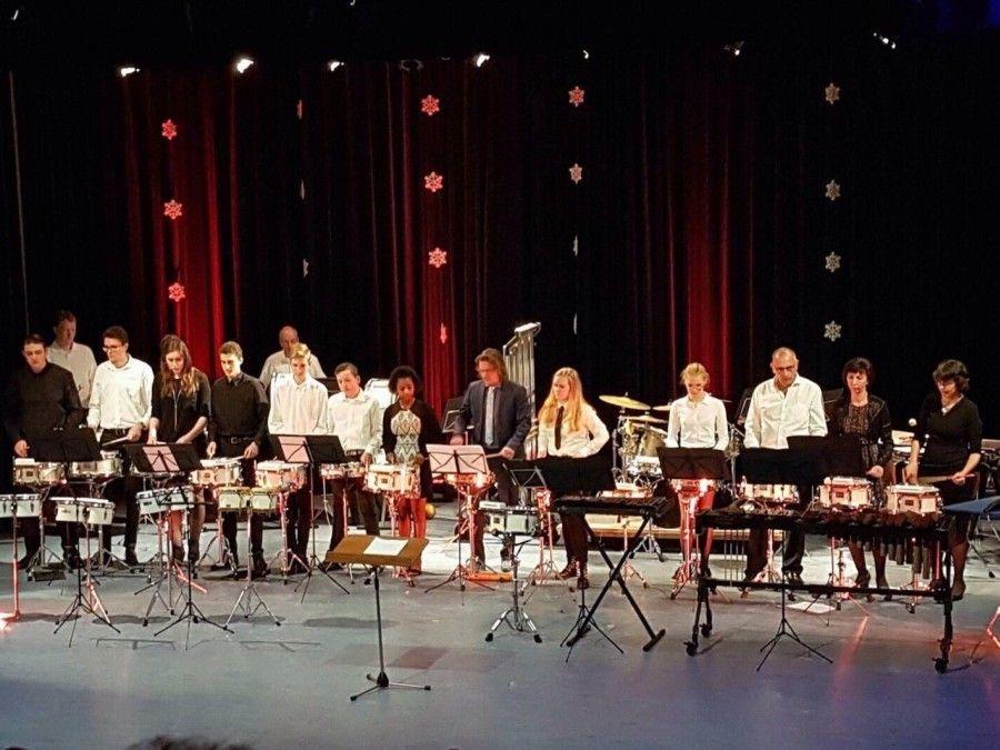 Winteruitvoering drumband
